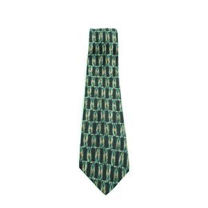 ALEXANDER JULIAN COLOURS Rectangles Silk Tie